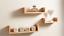 Set-of-3-U-Shape-Floating-Wall-Shelves-Storage-Display-Shelf-White-Black-Oak thumbnail 7