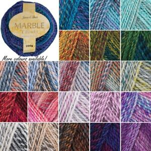 Marble Chunky Knitting Yarn James Brett Soft Machine Washable Acrylic Craft Wool