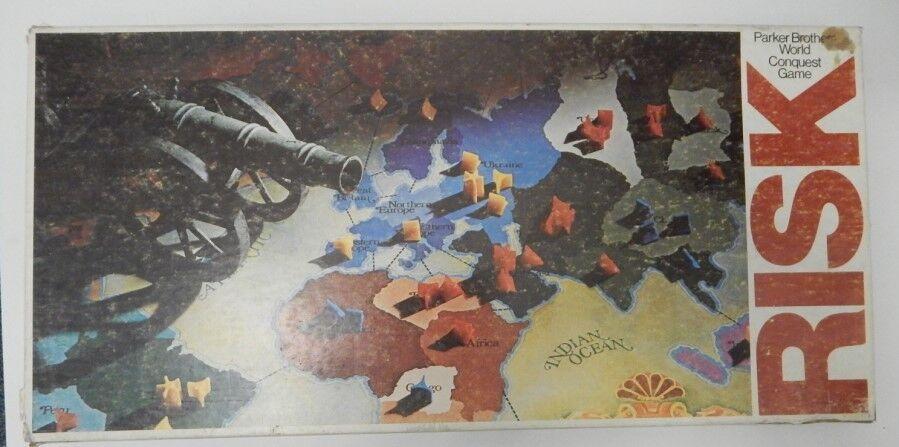 Vintage 1975 Risk World Conquest Board Game Complete Parker Bredhers R15975