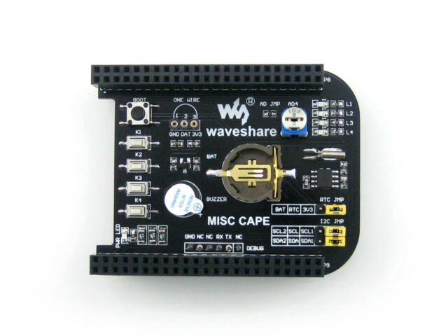 MISC CAPE with Lots of Components & Functions for BeagleBone BB Black Expansion