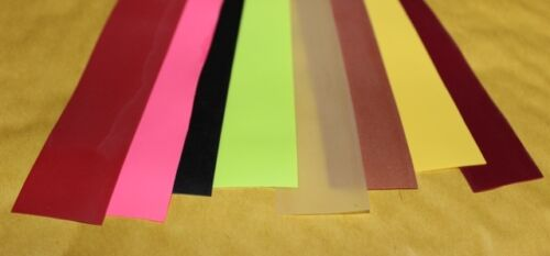 Fly Tying Latex rubber strip 15 colours flexy stretchy segmented bodies backs