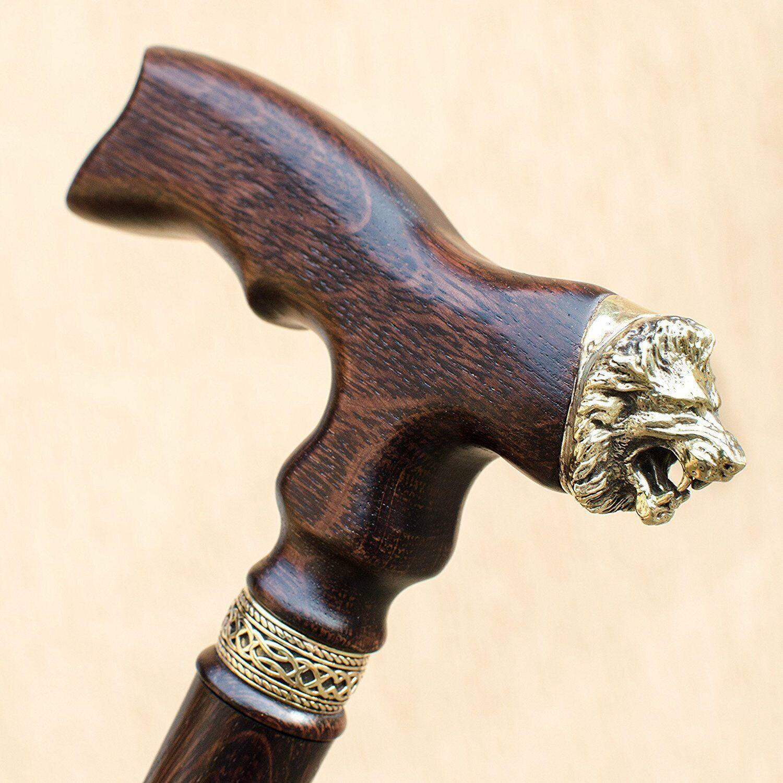 Fashionable Lion Walking Cane Сustom Size and Color Wooden Walking Cane Stick