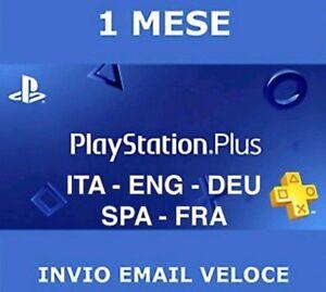 PlayStation plus 1 mese-spedizione gratuita-ps plus