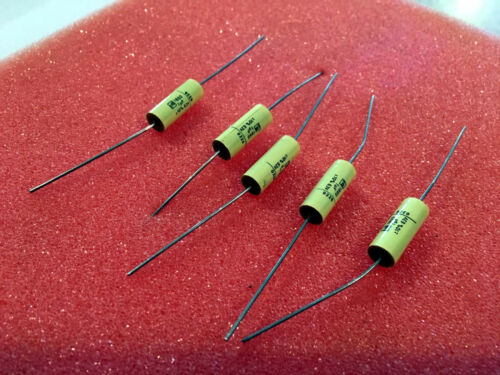 1UF 63V AXIAL Capacitors Film capacitors CAP FILM PET  5pc