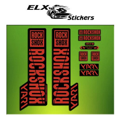 STICKERS FORK ROCK SHOX YARI 2018 ELX61 AUFKLEBER DECALS MTB MOUNTAIN BIKING