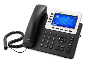 GrandStream GXP2140 IP Phone 4-Line HD Color Display Excellent Condition