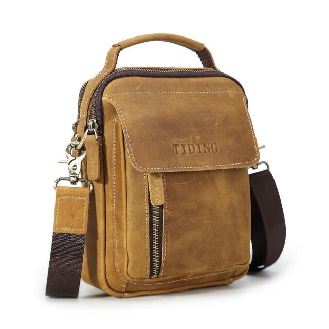 Vintage Men Leather Shoulder Messenger Bag Office Business Sling Bag Satchel