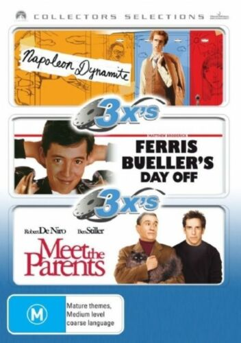 1 of 1 - Napolean Dynamite / Ferris Bueller's Day Off / Meet The Parents Pre-owned (D95)
