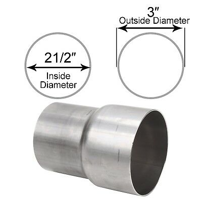 """2.25/"""" ID to 2.5/"""" ID Exhaust Pipe to Pipe Adapter Reducer Stainless Steel T-201"""