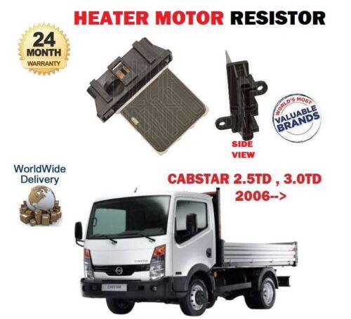 FOR NISSAN CABSTAR TRUCK F24 2.5TD 3.0TD 2006-/>NEW HEATER MOTOR RESISTOR