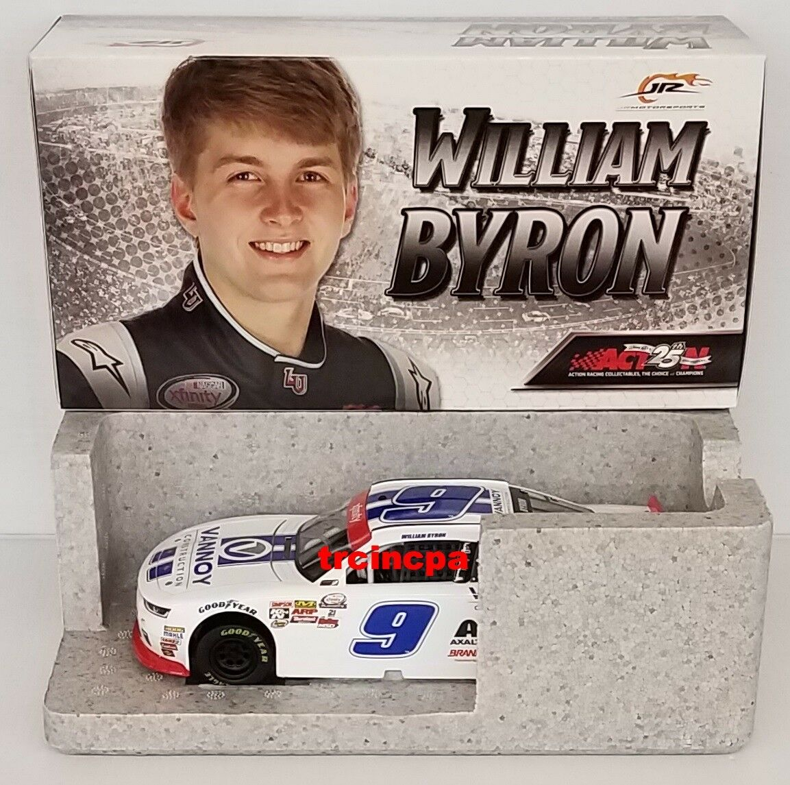 William Byron 2017 Lionel 1 24 Vannoy Construction Chevy Autographed FREE