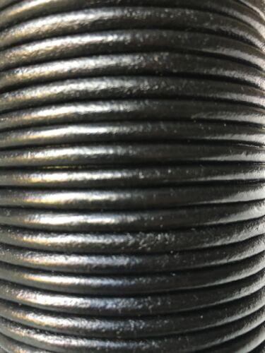 4 mm rond qualité cuir véritable cordon 2M-5M Disponible Thong String différentes couleurs