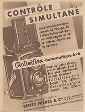 Z9267 ROLLEIFLEX automatique 6x6 -  Pubblicità d'epoca - 1932 Old advertising