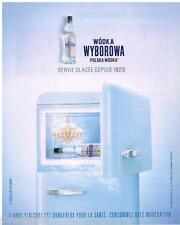 PUBLICITE ADVERTISING 095  2003  LA WODKA WYBOROWA  vodka polonaise