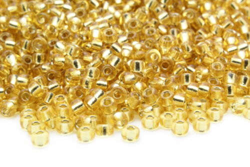 Miyuki Round Rocailles 6//0 Silver Lined Crystal Gold Seed Beads RR-002