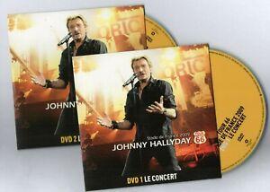 JOHNNY-HALLYDAY-2-x-DVD-LIVE-2009-BONUS-duo-SYLVIE-VARTAN-inedits-clips
