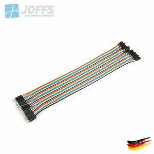 40-x-30cm-MALE-zu-MALE-Jumper-Kabel-Dupont-Cable-Breadboard-Wire