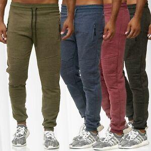 Motard-Pantalon-de-Survetement-Hommes-Jogging-Elastique-Fermeture-Eclair
