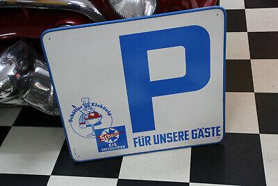 Reklameschild SchÖller Eisspezialitäten Parkplatz Nur Für Unsere Gäste
