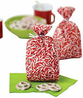 Peppermint Christmas Treat Bags 20 Ct From Wilton 3305 -