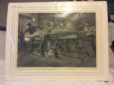 antique navel etching torpedo practice on h.m.s thunderer original picture