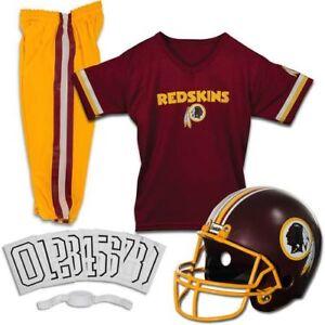 best service 5ebd2 41a40 Details about Washington Redskins Uniform Set Youth NFL Football Jersey  Helmet Kids Small