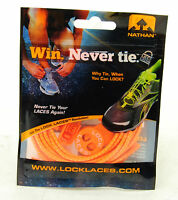 Nathan Lock Laces Shoe String No/never Tie Running Tri Jogging Neon Orange
