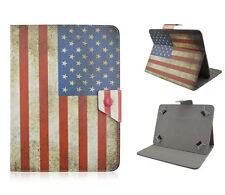 Universal Schutz Hülle Etui für 7 Zoll Tablet eBook Cover USA Flag Case Tasche