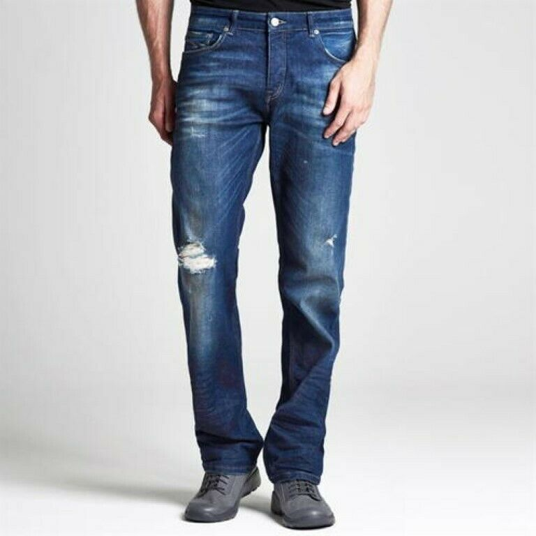 Firetrap neroseal BLU RIP Jeans 32R 32R 32R TD092 YY 08 8d1827