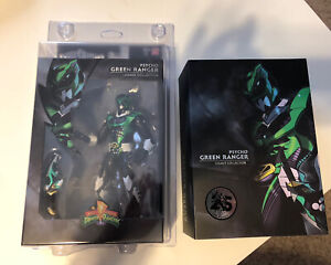 Power Rangers SDCC 2018 Legacy Psycho Green Figure with Figure Shield Case