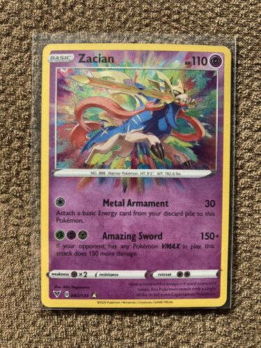 AMAZING RARE MINT-PACK FRESH ZACIAN 82//185 VIVID VOLTAGE Pokemon Card