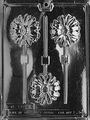 DAISY LOLLY POP Chocolate Candy Soap molds party spring daisies day of the dead