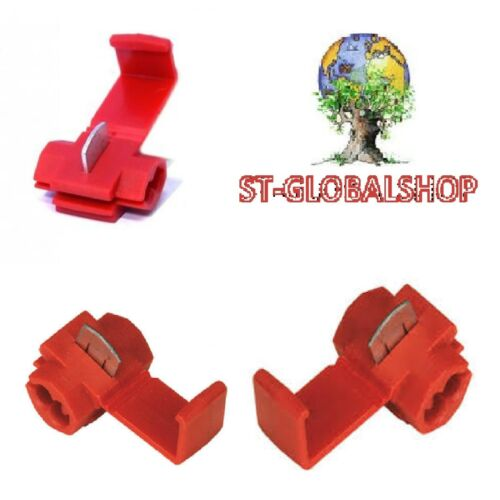25 X Quick Connector Connector Terminal Clamp 1,5 mm Max Red 25pz.