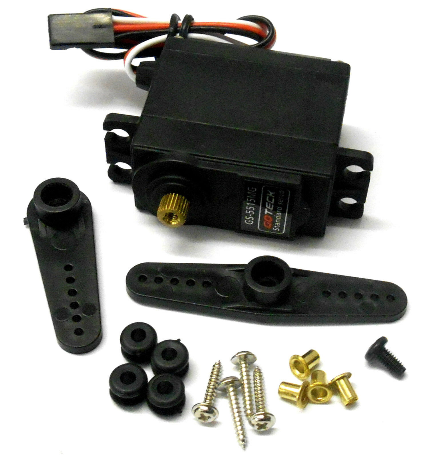 GS-5515MG 15kg High Torque Thredtle Steering RC Servo Metal Gears x 4