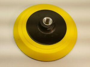 "6/"" Polishing Backing Pad with Soft Bonnet 5//8/""-11 Hook and Loop"