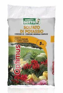 Solfato di Potassio Optimus Concime Minerale per Prato Orto Fiori Frutti 5 kg