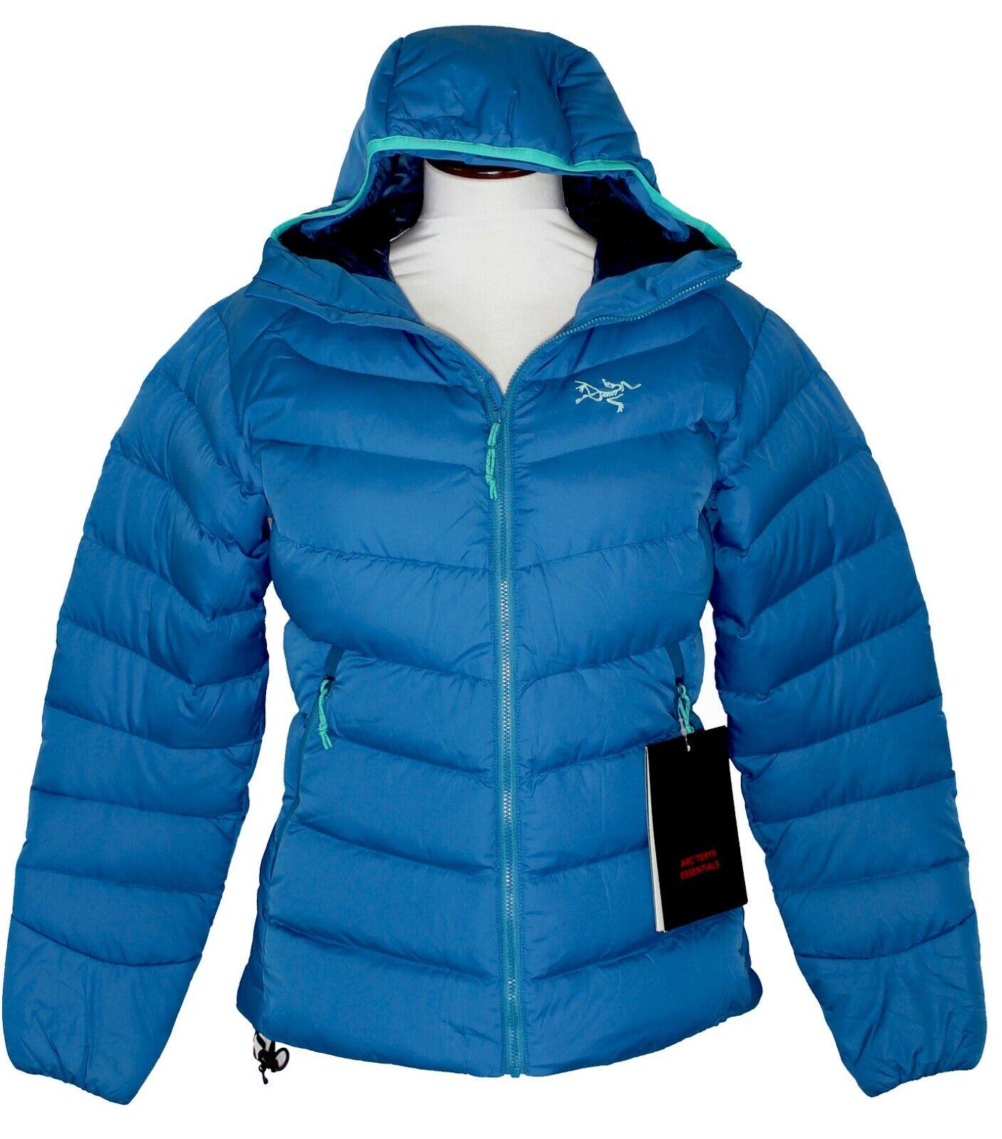 Arc'teryx Thorium SV Down Hoodie NEW damen sz XL Cyan Blau Jacket