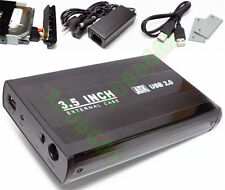 US SATA 3.5 Hard Disk Enclosure USB 2.0 External Drive Case BK Hight Speed