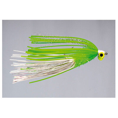 2 Ehler/'s J-Pig #2 Chartreuse Bass Fly by Rainy/'s FREE SHIPPING