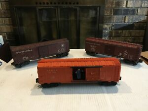 3-Lionel-Vintage-O-Freight-Cars-3484-6464-25-6464-50