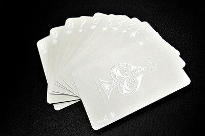 Impressions White Phantom Professional Poker Limited Custom Playing Cards Deck