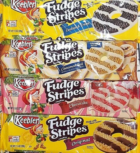 1 Of 3 Keebler Fudge Stripes Cookies Variety Limited Edition