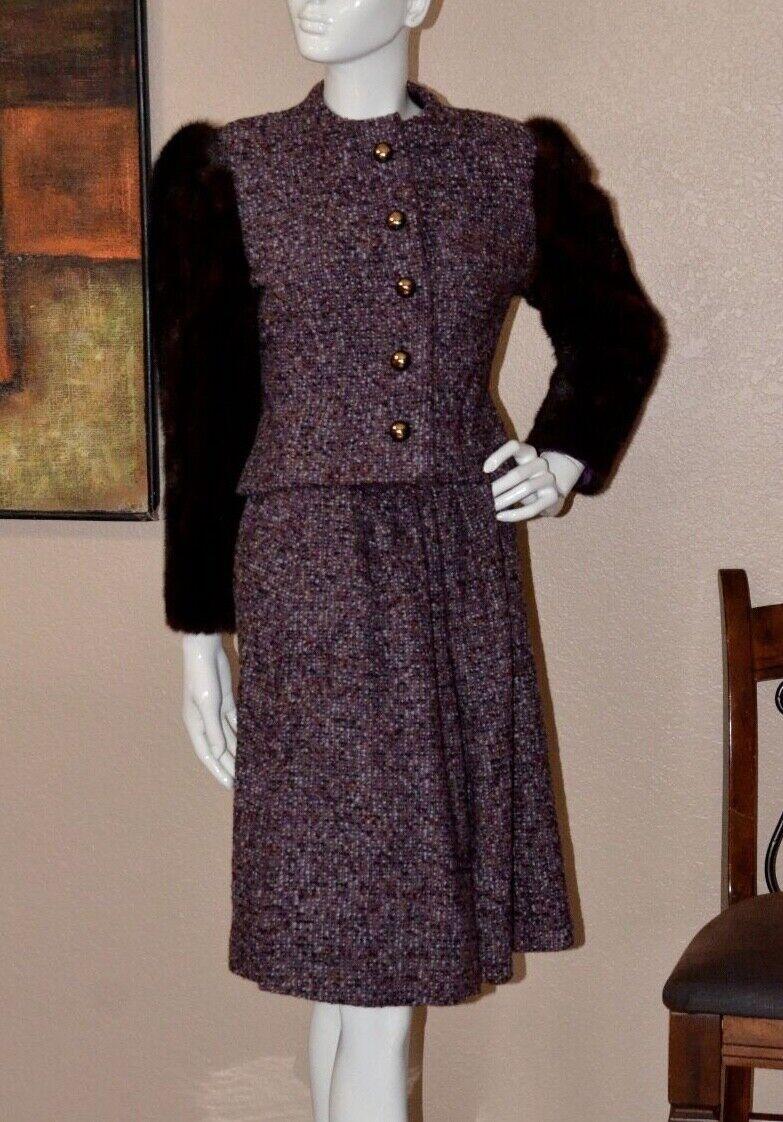 Arnold Scaasi Couture Stunning Vintage Mink Cropp… - image 3