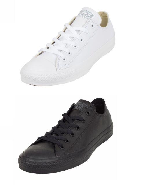 ac9e0de6f290 Converse Chuck Taylor All Star Leather 136823c - White Mens Trainers ...