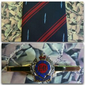 59-Commando-Royal-Engineers-Crest-Tie-Set-With-RE-Queens-Crown-Tie-Bar