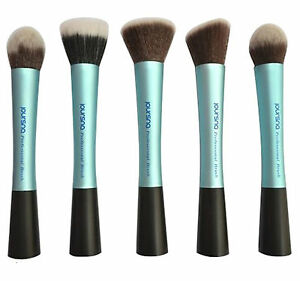 New-BLUE-professional-makeup-cosmetic-foundation-angled-blusher-facepowder-BRUSH