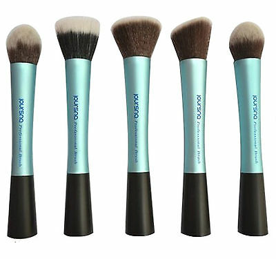 New BLUE professional makeup cosmetic foundation/angled blusher/facepowder BRUSH