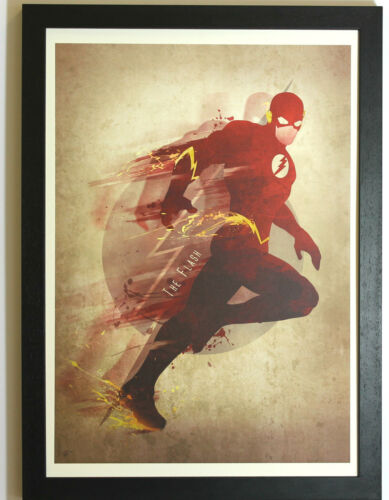 Tribute Artwork Print Open Edition Framed The Flash Superhero DC Homage