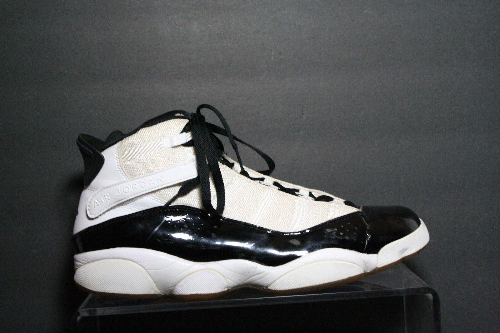 Nike air jordan 6 anelli concordia 2008 scarpe uomini 12 atletico basket bianco nero