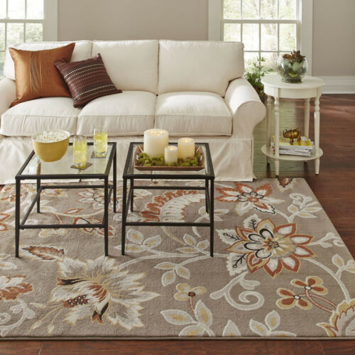 """Transitional Modern Contemporary Floral Taupe Gray Area Rug 9/'2/"""" x 12/'5/"""" 9x13"""